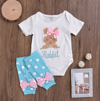 Easter Baby Outfits Baby Girls Bunny Romper Dot Bow Leg Warm...