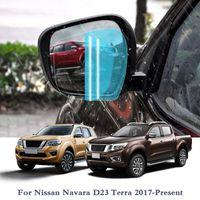 Анти туман окна автомобиля Clear Film Автомобильное зеркало заднего вида Защитная пленка для Nissan Navara D23 Terra 2017 Водонепроницаемый автомобилей против дождя наклейки пленки