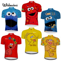 2018 NEW 7 Cycling Jersey Styles Sesame Street Elmo Cookie G...