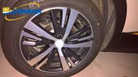 "Sunfada 18 ""Fibra di carbonio Rimprints Wheel Hub Rim Decalcomania Adesivi per Peugeot 3008 5008 2017 2017 Auto Styling"