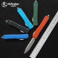 Hifinder Version UTX70 Klinge: D2 (Satin) 6061-T6 Aluminium Griff Camping Überleben im Freien EDC Jagd taktischen Werkzeug Abendessen Küchenmesser