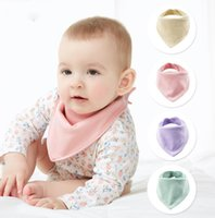 الطفل المرايل باندانا الوليد 7 ألوان لينة لطيف تغذية القطن التجشؤ القماش الصلبة مثلث منشفة اللعاب OOA7600