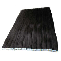 Tape In Human Hair Extensions 10 to 24inch 40pcs 100g/pack Silky Straight Tape PU Seamless Skin Weft