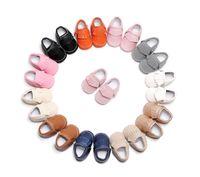 حار بيع الأطفال حديثي الولادة طفلة بوي سرير أحذية الشرابة PU الأولى حمالات أحذية عارضة الأولى حمالات 0-18M