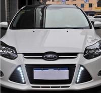 Impermeável de alta potência 12V LED Car DRL Lamp LED Daytime Running Light Car styling Para Ford Fox 2012 Foco 1 par Fog Lamp