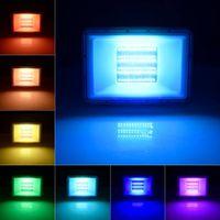 Outdoor Floodlights 100W 50W 30W 4PCS RGB LED Flood Light Color Change Remote Control Spotlight US