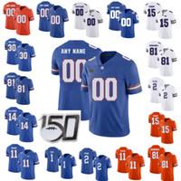 NCAA فلوريدا غتورس البلوزات الرجال مالك ديفيس جيرسي Dameon بيرس تايري كليفلاند كايل بيتس كلية الزرقاء لكرة القدم البلوزات مخيط مخصص