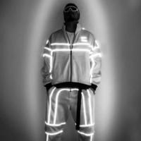 Moda-Pusu Ceket 3M Yansıtıcı WINDBREAKER Çift taraflı Erkekler Kadınlar Günlük Sade Hip Hop Coat Moda Dış Giyim HFLSJK329 Wear