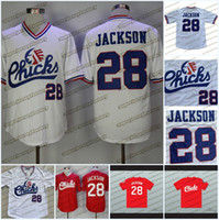 28 Bo Jackson Memphis Chicks Weiß Rot Baseball Jersey Top Qualität Nähte Schnelle Versandgröße S-XXL