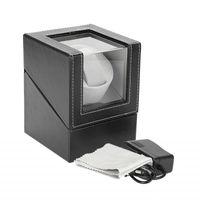 Automatic Watch Winder singolo supporto dell'esposizione di sicurezza Automatic Watch avvolge i monili della cassa del contenitore dell'organizzatore di immagazzinaggio scatola nera Brown