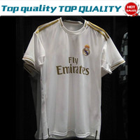 2019 Real Madrid Home White Away Green #9 BENZEMA #11 BALE S...