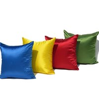 30 Satin Silk- like Sofa Solid Color Pillow Cushion Covers Th...