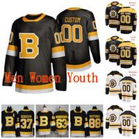 مخيط 2020 Boston Bruins Joakim Nordstrom Zendo Chara Patrice Bergeron Chris Wagner Brandon Carlo Zendo Chara الفانيلة الهوكي مخصص