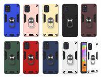 Hybrid 360 Support de voiture Aimant antichocs dur PC + TPU + Annulaire cas de couverture Support pour Samsung Galaxy M31 A21S A11 A21 A31 A41 A70E