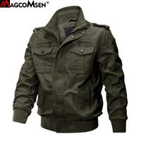 MAGCOMSEN куртки мужчины осень сафари грузовые куртки военный стиль армия тактический куртка твердые бомбардировщик куртка пилот пальто AG-SSFC-34