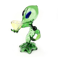 Hot Sale Green ET Smoking Hookah Glass Alien Water Pipe Hand...