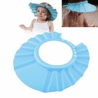 Мытье волос щит Дети купания шапочка для душа Детский шампунь Душ шапочку Мягкий регулируемый Купальный Hat для малышей Baby3r3