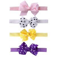 Cute Baby Headbands Headwear Girls Bow Knot Elastic Hairband...