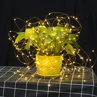 LED 구리 와이어 문자열 조명 CR2032 버튼 셀 배터리 쌀 문자열 조명 2 메터 20LED 요정 빛 크리스마스 웨딩 장식