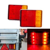 Luci di Emergenza Un paio impermeabili dell'automobile del LED per Tail camion rimorchi UTE Autobus Auto Car Led posteriore Luci di segnalazione
