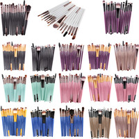 15pcs / set Maange Pennelli trucco professionale Pennelli trucco portatile Set Powder Foundation Lips Eyes Cosmetic Tools 3001321