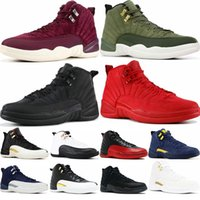 Zapato de baloncesto 12s para hombre Winterized WNTR Gym Red Michigan Bordeaux 12 blanco negro The Master Flu Game taxi zapatillas deportivas zapatillas de deporte tamaño 7-13