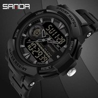 SANDA New Fashion Mens Watches Top Quartz Watch 5ATM Waterpr...