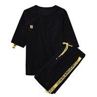 Brand Mens Tracksuit Été Mâle Ensembles à manches courtes T-shirt T-shirts Hip Hop Tops + Shorts Costume SportSwear Set Hommes Vêtements Hommes Trend M-3XL