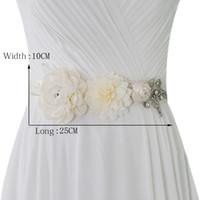 Цветочные кристаллические ремни для свадебных платьев и пояс свадебных