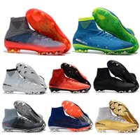 Hombres Mujeres Mercurial Superfly V Ronalro FG Fútbol Zapatos Botas  Tobillo alto SuperflyX KJ XII Ronaldo 1a26faa412505