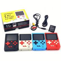129 لعبة تعزية صغيرة محمولة لعبة الرجعية المحمولة 8 بت FC AV LCD لاعب لعبة FC SUP مصغرة