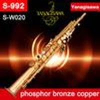 Ağızlık Profesyonel öğrenci 2-Neckse Düz boru soprano saksofon YANAGISAWA S-WO20 S-992 BB fosfor bronz, bakır soprano Sax