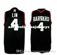 Günstige Universität # 4 Jeremy Lin Retro Herren Basketball Jersey Retro Throwbacks College Basketball Trikots Anpassen jeder Größe