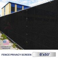 6'x50' Зеленый Черный Бежевый Коричневый Забор Защита ветрового стекла Сад Shade сетка