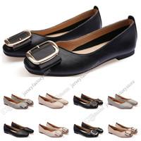 Chaussures plates de la femme Lager taille 33-43 Femme Cuir Nu Nu Noir Noir Gris Neuf Arrivel Work Work De Mariage Dress Chaussures Cinquante