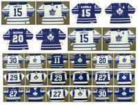 Vintage Toronto Maple Leafs Jersey 29 MIKE PALMATEER 27 DARRYL SITTLER 30 TERRY SAUCHUK 11 MIKE GARTNER 20 ED BELFOUR TOMAS KABERLE Hóquei