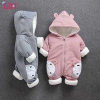 Vêtements bébé 2020 Automne Hiver Rompers pour bébé Girls Boys Dessin animé Jumpsuit Enfants Bébé Chauffe Chaude Chaude Vêtements Nouveau-né
