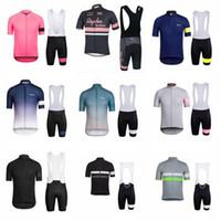 Rapha Team Cycling Mangas cortas Jersey BIB Shorts Sets Outdoor Sports Road Sportswear Mens Ropa Ciclo Wear K11011