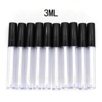 새는 것이 내부 샘플 화장품 컨테이너 DIY 플라스틱 립글로스 튜브 작은 립스틱 튜브 3ml를 미국 주식 50PCS / 많은