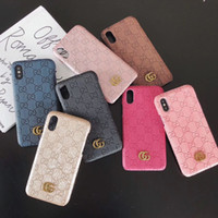 Top Luxury Designer Pattern Phone Case For iPhone X XS Max X...