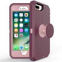 Le plus récent Defender pour iPhone 11 Pro Max XS Max 6S 7 8 Plus Sac intégré Air Shell Holder Cover Galaxy A10e A20 5 Note 10 Stylo
