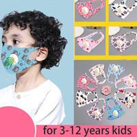 Mode Masque Cartoon Lavable enfants bouche avec respiration PM2,5 Couverture visage enfants Valve extérieur Environnement bouche visage Masques respirateurs
