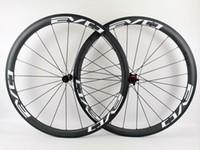 EVO tam karbon tekerlekler 38 mm derinliği 25 mm genişliği karbon tekerlek düğüm / boru şekilli yol karbon bisiklet tekerlek 3K matlaştırılmış