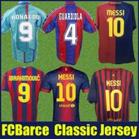 96 97 camisetas de fútbol GUARDIOLA FIGO RONALDO Retro 08 09 XAVI A.INIESTA camisa clásica de fútbol 10 11 PIQUE IBRAHIMOVIC maillot de pie