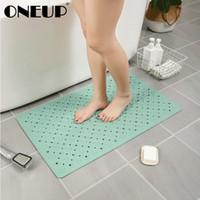 Oneup Anti Slip Badematten auf dem Boden Ausstreifbeutel Badezimmer Teppich PVC weicher Badematten mit Saugschale Home Bad Accessoires