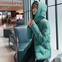 Kore Style 2019 Kış Kaz Tüyü Ceket Kadınlar Loose Goose Down Coat Kalın Ceket Sıcak Aşağı Parka Gevşek Büyük Boy Parka Coat LY191129