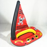 Children Inflatable Pirate Drifting Baby Pool Seat Kids Floa...