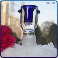 Tazones de vidrio de 14 mm pieza de tazón de 18 mm 18 mm Hombre verde azul Copo de nieve Filtro de los cuencos Percolator Bong para el burbujeador de cristal y cuenco de la ceniza BONG cuencos