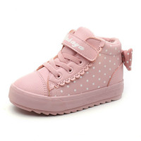 Children Shoes Girl Winter New Increase Down Thickening Casu...