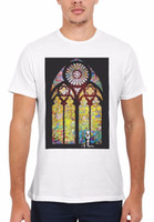 Banksy Stained Glass Window Graffiti Hombres Mujeres Chaleco Tank Top Unisex Camiseta 1761